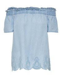 ONLY Rinna ss off shoulder top (Denim, 34)