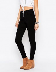 Only Royal High Waist Skinny Jeans - Black