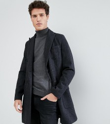 Only & Sons Doubled Breasted Overcoat with Check - Grey