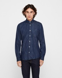 ONLY & SONS Kade langærmet denim skjorte