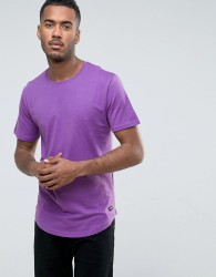 Only & Sons Longline T-Shirt with Curved Hem - Purple