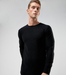 Only & Sons Raw Edge Jumper in 100% Cotton - Green