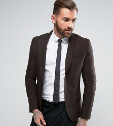 Only & Sons Skinny Shawl Suit Jacket In Tonic - Gold