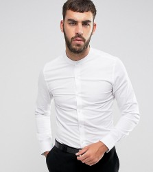 Only & Sons Skinny Smart Grandad Shirt - White