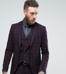 Only & Sons Skinny Suit Jacket In Check - Navy
