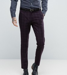Only & Sons Skinny Suit Trouser In Check - Navy