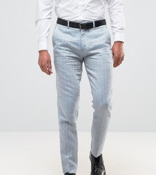 Only & Sons Skinny Suit Trouser In Herringbone - Blue