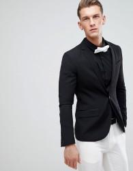 Only & Sons Skinny Tuxedo Jacket - Black