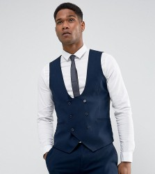Only & Sons Skinny Tuxedo Waistcoat - Navy