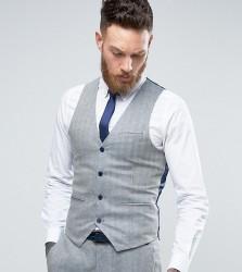 Only & Sons Skinny Waistcoat In Herringbone - Blue