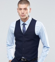 Only & Sons Skinny Waistcoat with Stretch - Navy