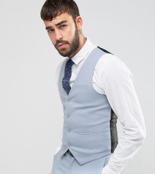 Only & Sons Skinny Wedding Suit Waistcoat - Blue
