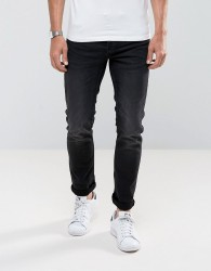 Only & Sons Slim Fit Jeans In Distress Jog Denim - Black