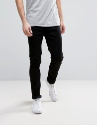 Only & Sons Slim Fit Stretch Jeans in Black - Black