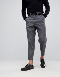 Only & Sons Smart Trousers In Balloon Fit - Grey
