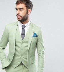 Only & Sons Super Skinny Jacket In Cotton Sateen - Green