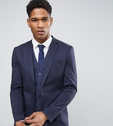 Only & Sons Super Skinny Jacket In Cotton Sateen - Navy
