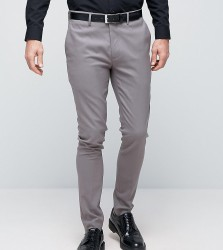 Only & Sons Super Skinny Smart Trousers - Grey