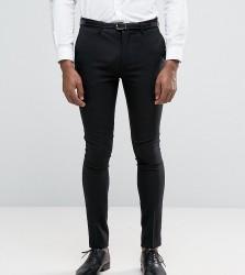 Only & Sons Super Skinny Tuxedo Trousers - Black