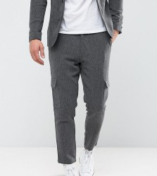 Only & Sons Tapered Cropped Trouser With Cargo Pocket - Grey