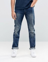 Only & Sons Vintage Wash Regular Fit Jeans with Stretch - Blue
