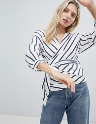 Only Striped Wrap Top - Multi