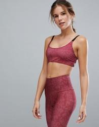 Onzie Graphic Yoga Bra In Pink - Pink
