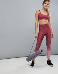 Onzie Hi-Rise Graphic Crop Leggings - Pink