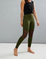 Onzie Mesh Insert Crop Yoga Leggings - Black