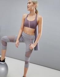 Onzie Mesh Panel Crop Yoga Leggings In Stone - Multi