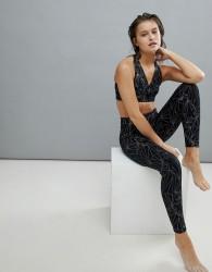 Onzie Reflective Print Hi-Rise Yoga Leggings - Multi