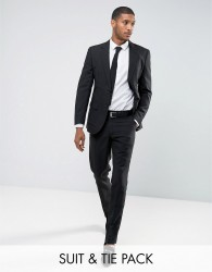 OppoSuits PROM Slim Suit Tie In Black - Black