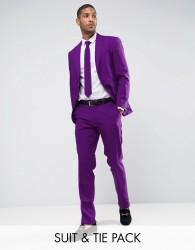OppoSuits PROM Slim Suit Tie In Purple - Purple