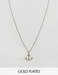 Orelia Anchor Charm Pendant - Gold