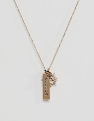 Orelia Follow The Sun Necklace - Gold