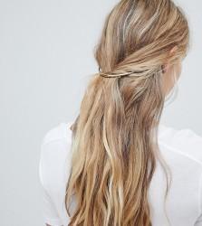 Orelia gold crescent hair clip - Gold