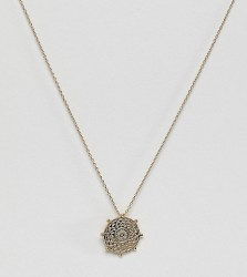 Orelia gold plated bead coin necklace - Gold