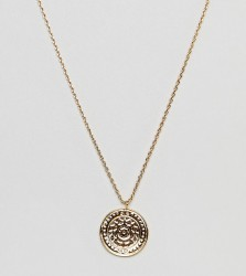 Orelia gold plated coin detail pendant necklace - Gold