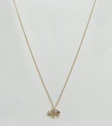 Orelia Gold Plated Elephant Ditsy Pendant Necklace - Gold