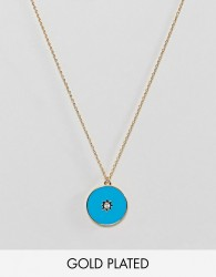 Orelia Gold Plated Enamel Star Ditsy Necklace - Gold