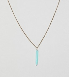 Orelia gold plated enamel tusk pendant necklace - Gold