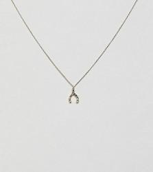 Orelia gold plated hammered wishbone pendant necklace - Gold