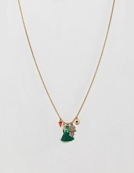Orelia Gold Plated Medina Charm Cluster Necklace - Gold
