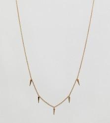 Orelia gold plated mini dagger charm necklace - Gold