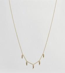 Orelia Gold Plated Mini Horn Multi Necklace - Gold