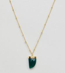 Orelia gold plated single tusk pendant necklace - Gold