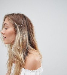 Orelia hammered gold arrow hair clip - Gold