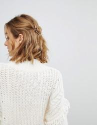 Orelia Hexagon Thread Through Hair Clip - Gold