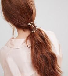 Orelia open moon hair clip - Gold