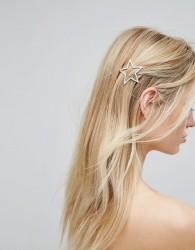 Orelia Open Star Hair Clip - Gold